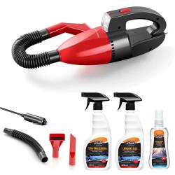KIT Limpeza Automotiva com Aspirador 12v + Cera Finalizadora + Lavagem À Seco + Cristalizador de Vidros - MULTILASER